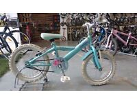 GIRLS APOLLO SPARKLE CLEARANCE BIKE 16 INCH WHEELS BLUE GOOD CONDITION