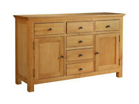Kingsbury Large Oak & Oak Veneer Sideboard