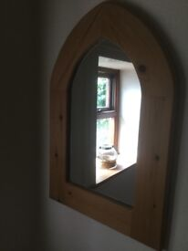 Beautiful arched pine mirror