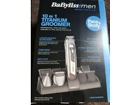Babyliss 10 in 1 titanium hair groomer kit.