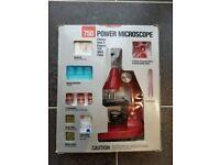 Vintage 1990 TASCO 750 Power Microscope w/ Discovery Kit 75x 300x 750x