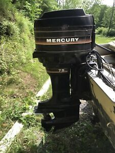 Boat with 75hp Mercury Outboard Motor