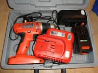 Black & Decker 18V GCO1800 Drill Driver 2 Batteries and charger