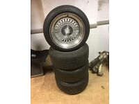 15x8.5 ET17 KLUTCH SL1 Deep Dish Alloy Wheels with Tyres 4x100