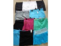 SHORT SKIRTS - MINI SKIRTS Size 14 Most are brand new some with the labels still on. Plus more!