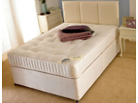 EXCLUSIVE SALE! Free Delivery! Brand New Looking! Double (Single+King Size) Bed & Luxury Mattress