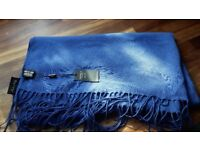 Osprey London, corn blue pashmina. New, with tag!