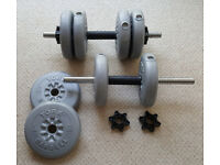 York Dumbell Set (1 pair with total of 40 lbs)