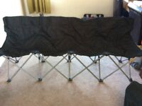 Football fold up 4 seat subs bench