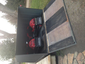 package enclosed trailer and two yamahas