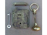 Marine brass rim lock