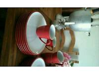 Fab Denby Dinner Service With Mugs, New & Unused