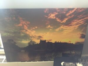 Sunset canvas painting