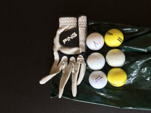 Golf Balls and Glove