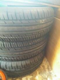 Four new tyres