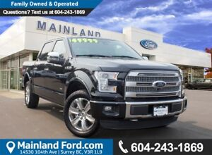 2015 Ford F-150 Platinum LOCAL, LOW KMS