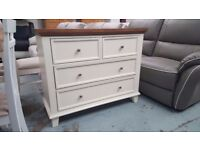NEW Ex Display Julian Bowen Portland 4 Drawer Wide Chest Can Deliver View Collect Kirkby NG177