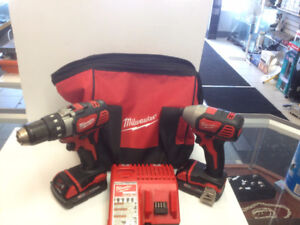 (sold)  Milwaukee 18 Volt impact driver and drill driver KIT