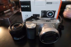 Sony a6000 camera and lens