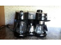morphy richard coffee maker with 3 pots