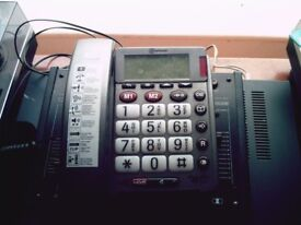 HOME TELEPHONE FOR THE HARD OF HEARING AND SHORT SIGHT