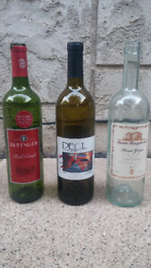 Dozen's of Wine Bottles & Corks - Clear & Colored Available