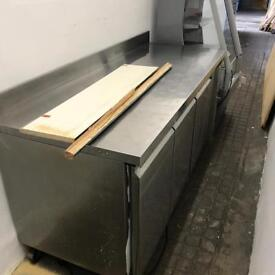 Kitchen/ galley bench and fridges
