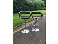 ** x 2 Matching Leather Stools**