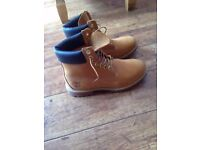 Mens Timberland Boots. Size 8.5. Wheat. 6 inch. Perfect Condition. £75