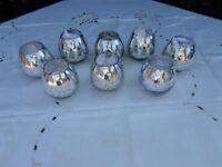 7 GLASS TEE LIGHT JARS