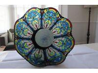 Vintage glass Tiffany style pendant lampshade