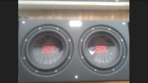 """2 12""""mtx subs in mtx ported box"""