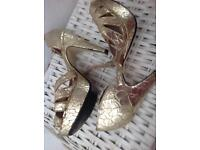 Gold top shop sandals
