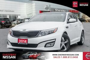 2014 Kia Optima, one owner  trade,low kms with snows on alloy wh