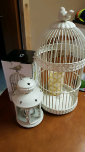 Bird cage candle lot