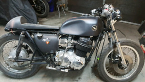 1976 honda cb750 k with 1973 k engine cafe racer project