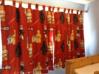 LIKE NEW Star Wars curtains with BLACKOUT lining