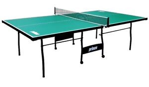 Ping Pong Table (Green, foldable, on wheels) for sale