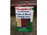 patio and block paving seal, can approximately half full