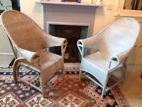 Cane Armchairs - pair
