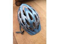Ladies blue bicycle helmet