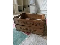 Old wooden crate perfect for storage or upcycle project