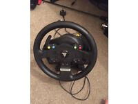 Thrustmaster tmx force feedback steering wheel pedals and gear stick