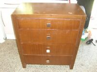 free chest of drawers very heavy fully working but marked