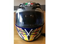 AVG Motorcycle Crash Helmet Stealth helmet with Scottish Flag and Lion