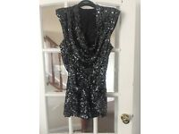 Stunning black sequined French Connection playsuit