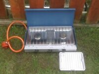 CAMP COOKER WITH 2 RINGS AND GRILL AS NEW £20