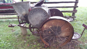 Cockshutt seeder, horse drawn but can be used with a tractor