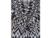 Black & White Dress - M & S - Size 16