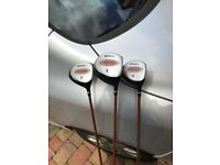 Wilson matrix golf clubs driver 1, 3 & 5 woods